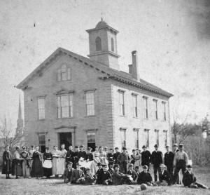 1895 Sherborn Community Center 1858 Townhouse schoolchildren